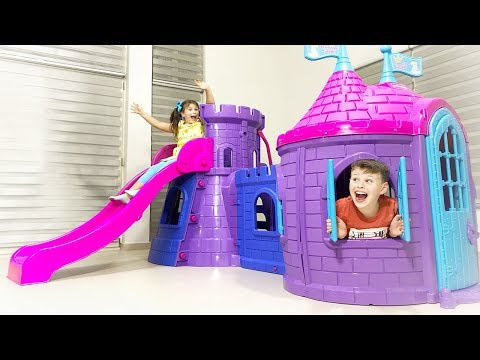 AL陌N陌N YEN陌 KALE EV陌 Kids build New Playhouse Slide Toy