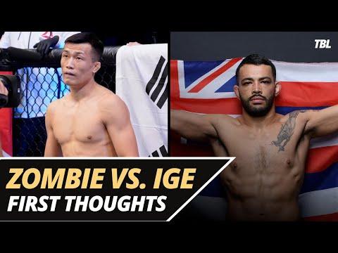 'Korean Zombie' vs. Dan Ige set for UFC Fight Night main event