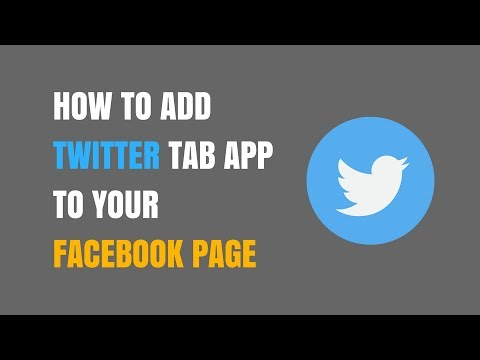 How to Add Twitter Tab App to Your Facebook Page