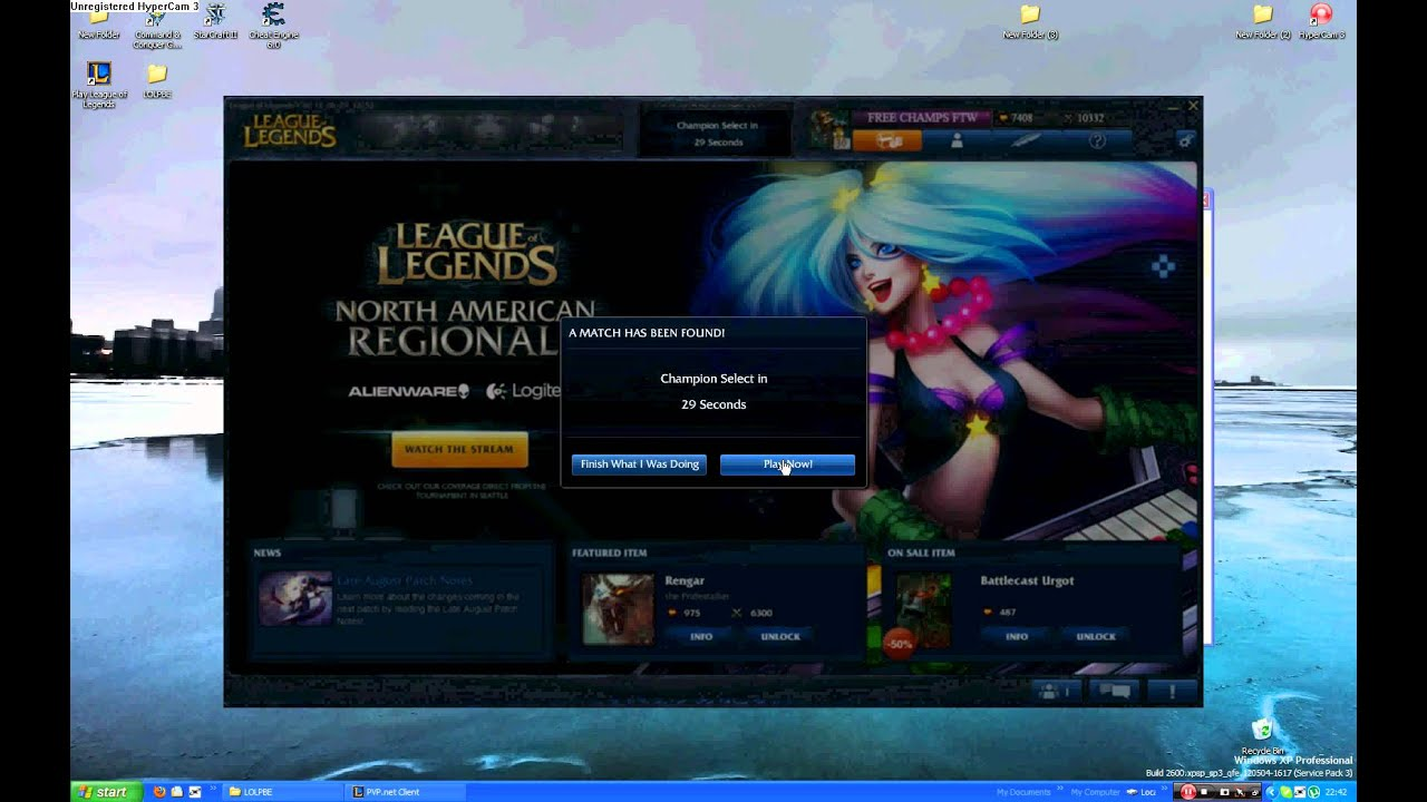 League of Legends --- Free RP and IP (PBE server) - YouTube