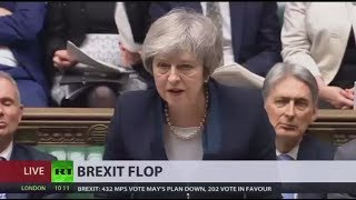 Catastrophic Defeat UK Parliament Rejects Theresa Mays Brexit Deal