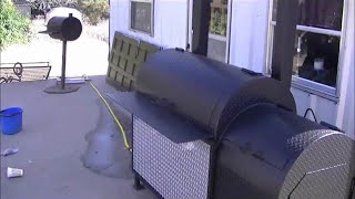 BBQ Smoker backyard back yard bbq pits