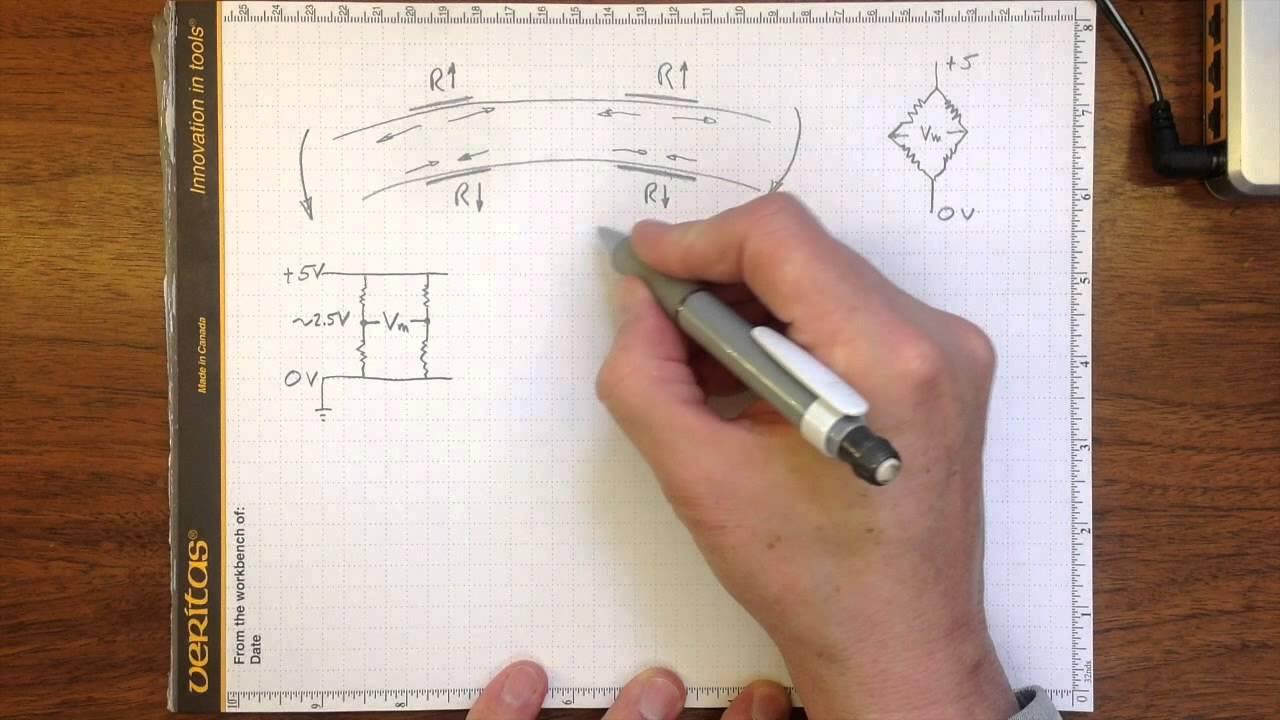 load cell bridge circuit [ 1280 x 720 Pixel ]