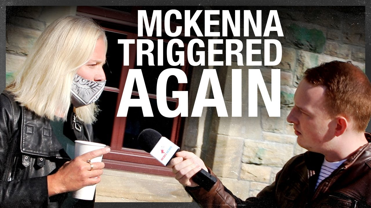 McKenna denies her own tweet, gets triggered again outside of Parliament ahead of throne speech