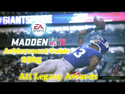 Madden NFL 16 All Legacy Awards - Achievement Guide