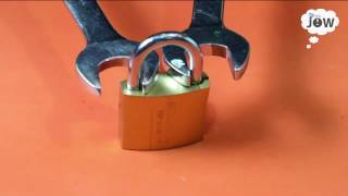 open a lock with a nut wrench
