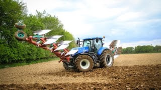 NEW HOLLAND T7-270 I 8 plowhshare I PLOWING