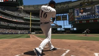 MLB The Show 18 - Milwaukee Brewers vs New York Mets - Gameplay (PS4 HD) [1080p60FPS]