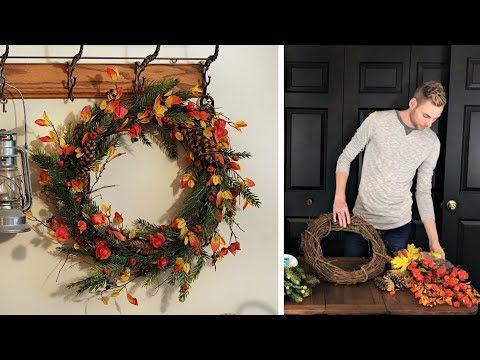 Fall Decorating - Part 3 - Autumn Woods Wreath - How To Make A Fall Wreath