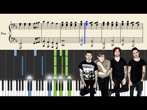 Fall Out Boy - Golden - Piano Tutorial + Sheets