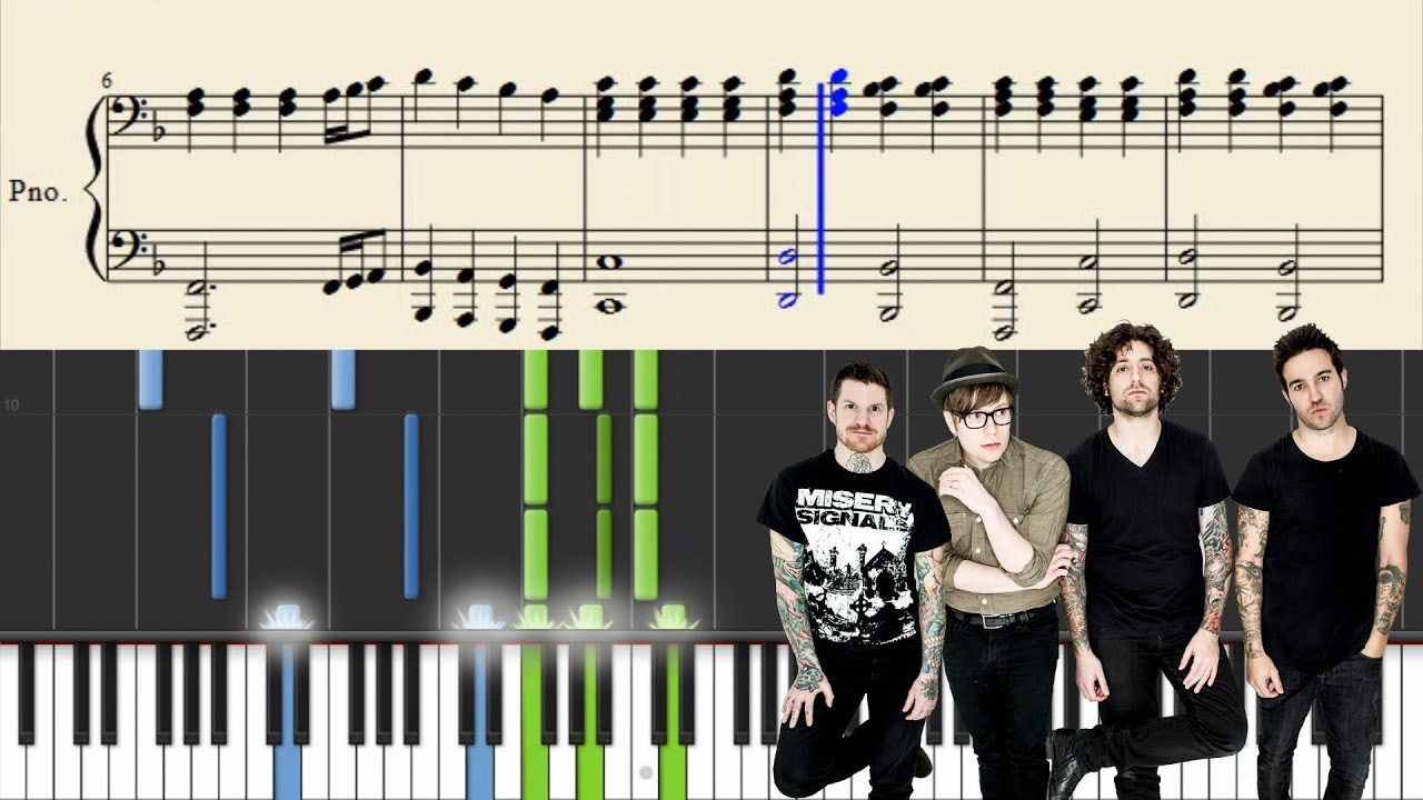 Fall out boy golden piano tutorial sheets youtube fall out boy golden piano tutorial sheets baditri Choice Image