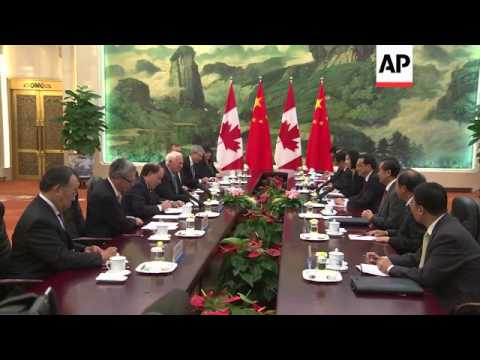 Canadian Governor General meets Chinese Premier Li