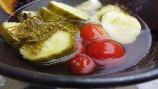 Pickled Cucumbers And Cherry Tomatoes Recipe
