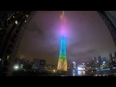 canton tower (guangzhou) time lapse gopro
