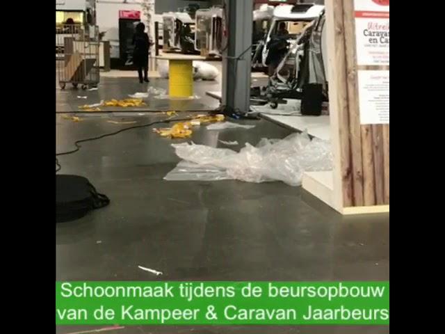 Schoonmaak Kampeer & Caravan Jaarbeurs