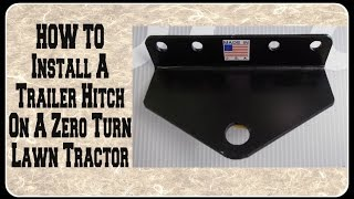 How to Install Trailer Hitch on Troy-Bilt Mustang XP 50 Zero Turn Mower
