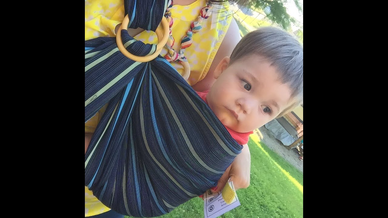 Product Review Mamaway Ring Sling Baby Carrier Youtube