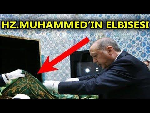Cumhurbaşkanı Erdoğan'ın Hz Muhammed'in Elbisesine Ne Yaptığını Görün! Tüm Eşyalar