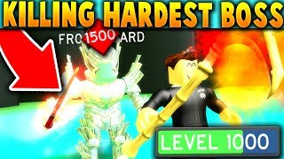I Got The RAREST LEVEL 1,000 SWORD & KILLED THE FINAL BOSS!! - Roblox Slaying Simulator