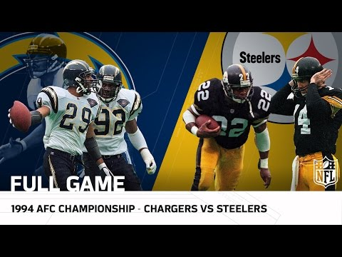 1994 AFC Championship: Chargers Secure 1st Super Bowl Appearance Against Steelers (FULL GAME) | NFL