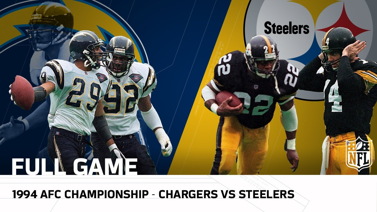 aef995d9b 1994 AFC Championship: Junior Seau & Chargers take on Mighty Steelers | NFL  Full Game - YouTube