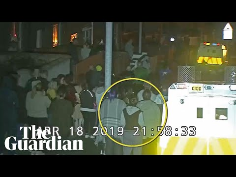Police release CCTV footage of Lyra McKee in crowd moments before she was shot