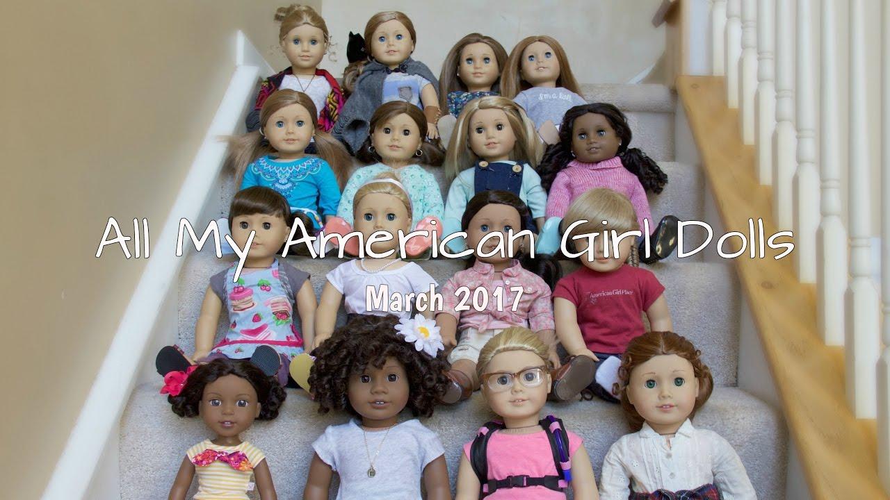 5e0f04e0ca2 All My American Girl Dolls!! (March 2017) - YouTube