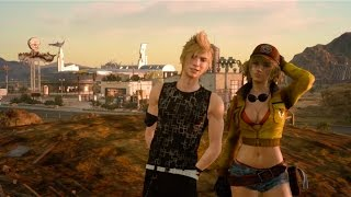 Cindy & Prompto Photo - Hallowed Hill of Hammerhead Tour (Final Fantasy XV)