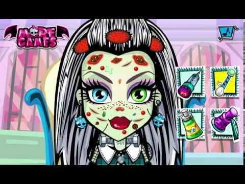 Игры одевалки Монстр Хай Monster High Школа монстров