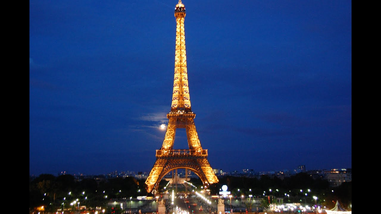 Image result for eiffel tower at night