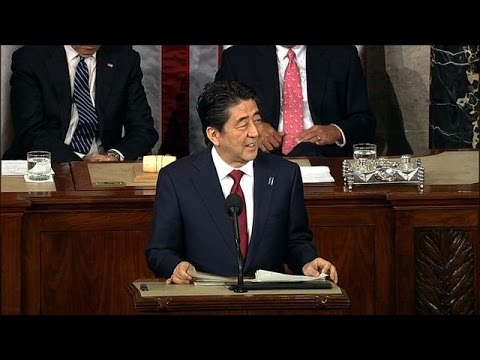 Abe becomes first Japan PM to address US Congress joint session