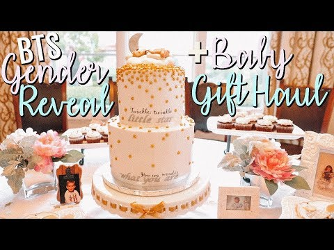 BTS OF GENDER REVEAL PARTY + BABY GIFT HAUL!