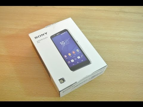 Sony Xperia E4 - Unboxing, Setup & First Look HD