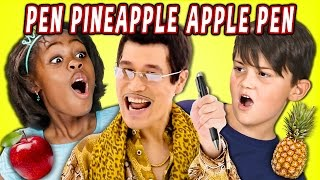 KIDS REACT TO PPAP Pen Pineapple Apple Pen