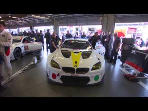 BMW Art Car John Baldessari 24h Daytona 2017 - Preparations | AutoMotoTV