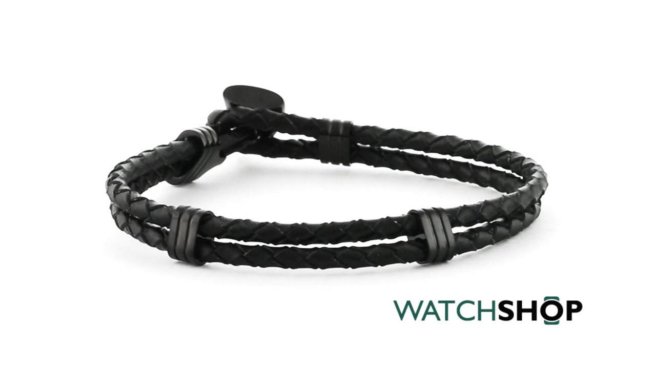 662c4f9508716 Guess Jewellery Men's Black Ion-plated Steel Bracelet (UMB21517-L)