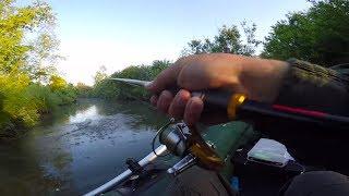 Рыбалка на малой реке. Щука на воблеры с Алиэкспресс и IZUMI