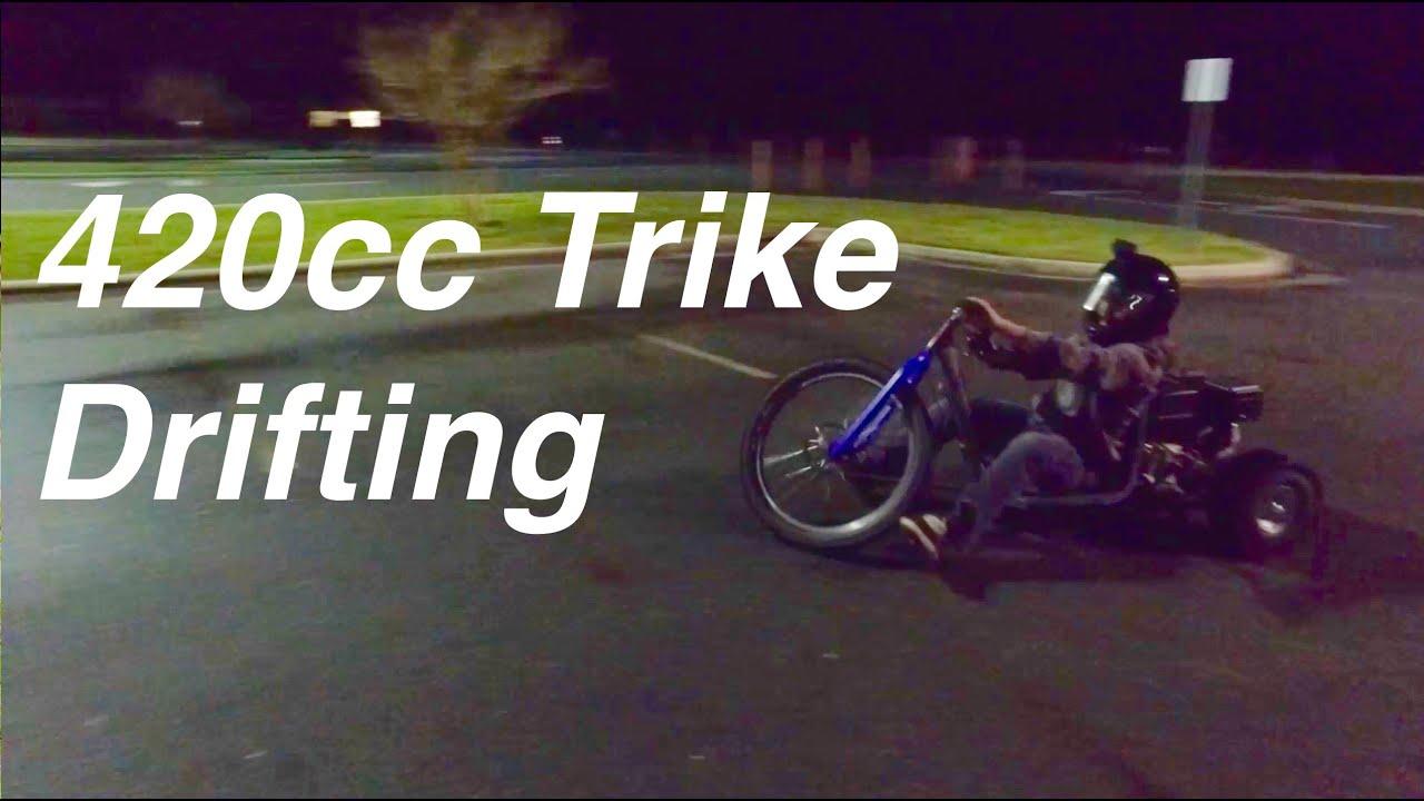 Drift Trike Drifting and Top Speed Run!