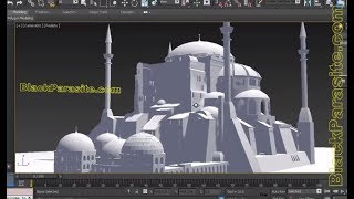 MODELING HAGIA SHOPIA BUILDING - 3DS MAX TUTORIAL - DETAIL - ARCHITECTURE - EASILY