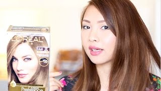 Repeat youtube video LOREAL UL61 HOW TO DYE DARK HAIR TO ASH BROWN