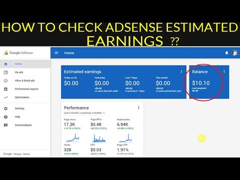 Adsense Estimated Earning Show Zero - Easiest Method to Check Total Earning [solved]