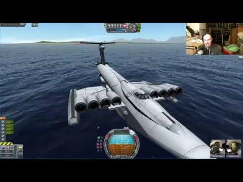 Kerbal Space Program - Ekranoplan, Falcon 900 - Livestream