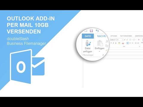 Mit Dem DoubleSlash Business Filemanager Outlook AddIn Große Dateien Versenden Und Austauschen