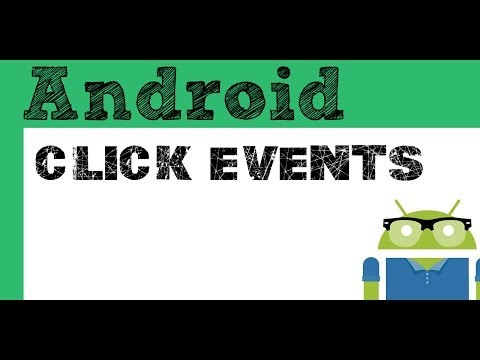 Click events  and Button onClick- Android Studio tutorial