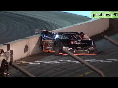 Sunset Speedway, Super Late Model crash, Sept. 22, 2019