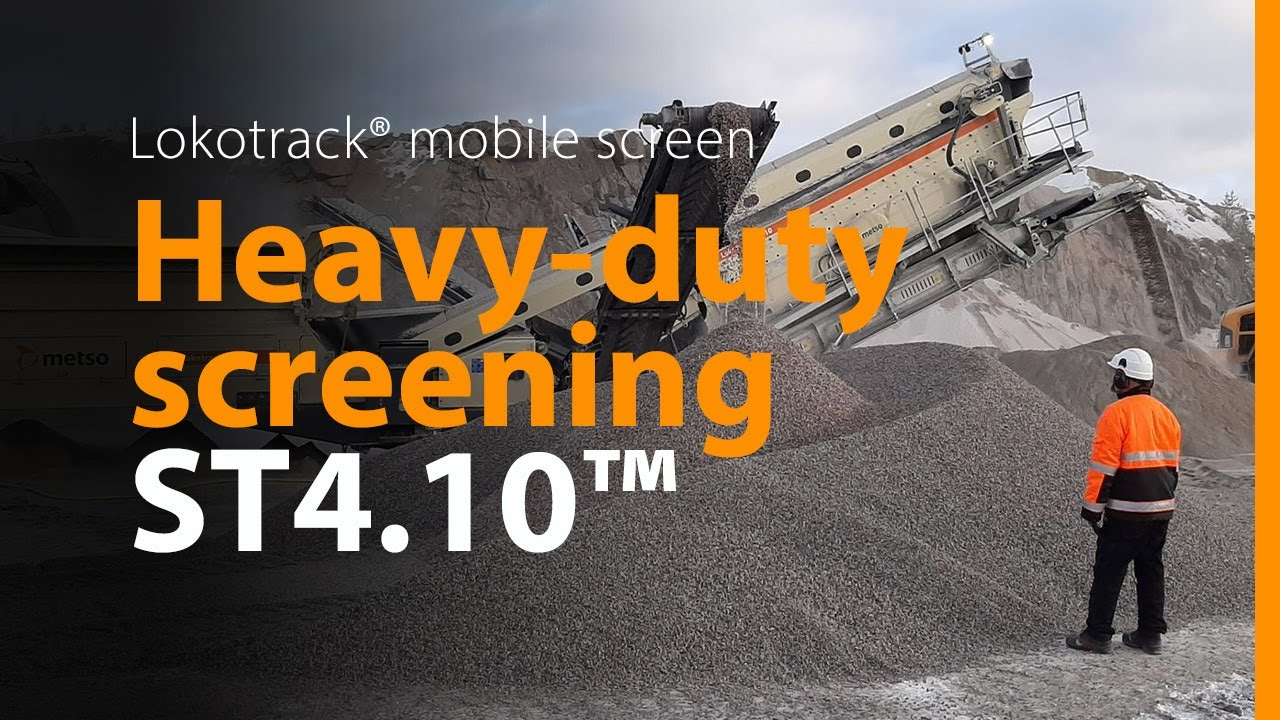 Metso Lokotrack® ST4.10™ mobile screen. For your good day at the quarry