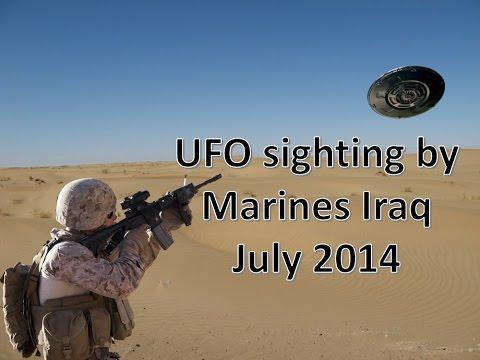 UFO sighting by Marines Iraq July 2014