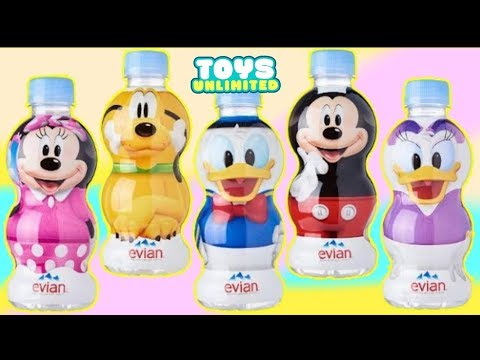 Disney Evian Water with Mickey Mouse, Minnie Mouse, Daisy Duck, Donald & Pluto