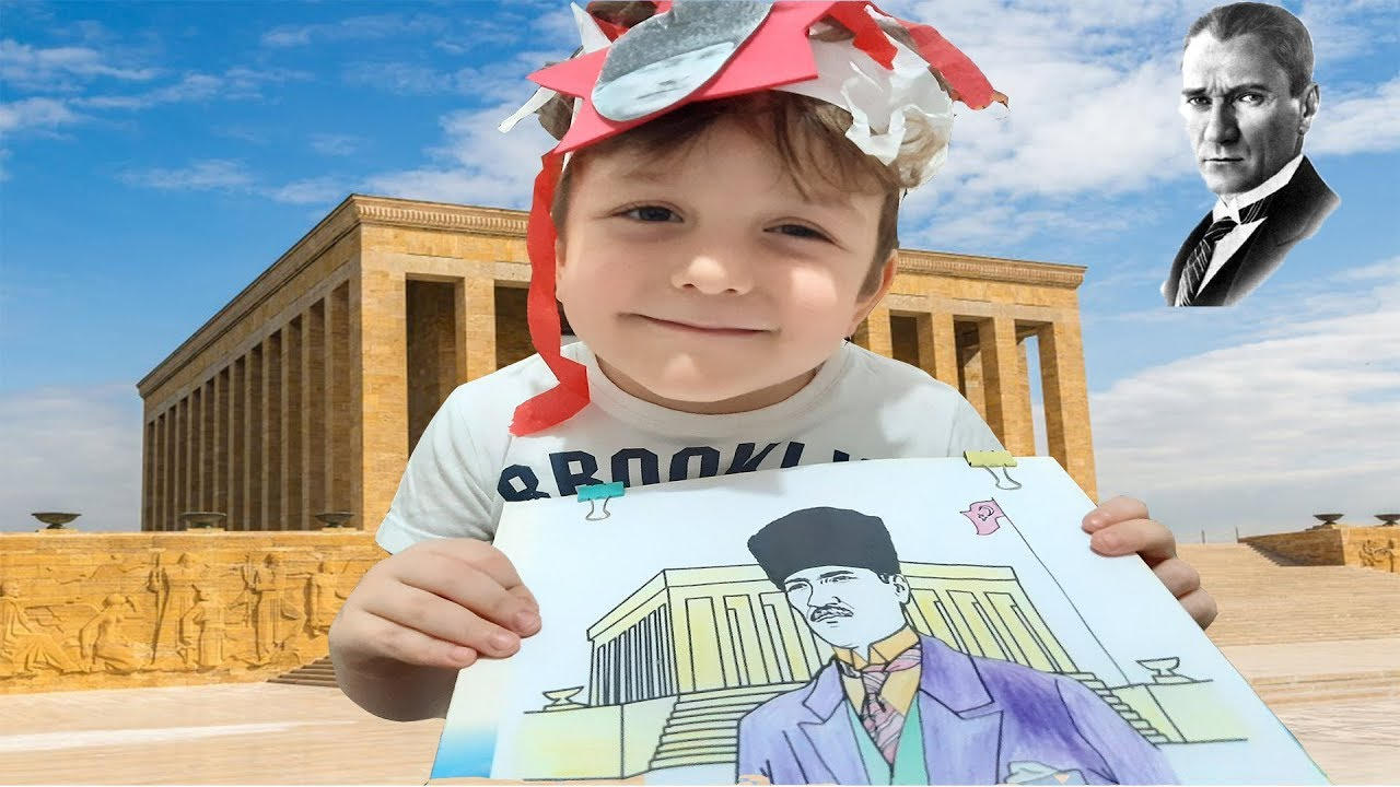 Mustafa Kemal Ataturk U Saygiyla Aniyoruz 10 Kasim Ozel Boyama