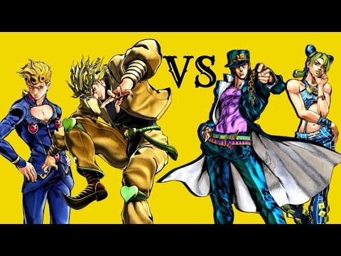Dio et Giorno VS Jotaro et Jolyne   JoJo's Bizarre Adventure: Eyes of Heaven